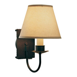 Simple Lines 1 Light Wall Sconce with Shade - %The Simple Lines 1 Light Wall Sconce with Shade by Hubbardton Forge warms and brightens interior spaces in a design with lovely, appealing details. The Simple Lines 1 Light Wall Sconce with Shade allows a selection of finishes to set that specific look. For exceptional quality and compliment to your existing decor, the Simple Lines 1 Light Wall Sconce with Shade is a welcome addition.