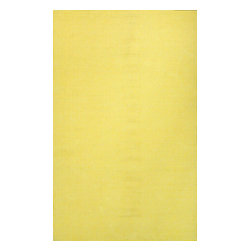 nuLOOM - nuLOOM Hand Loomed Chalet Diamond Cotton Rug, Ming Yellow, (8' X 10') - Material: 100% Cotton