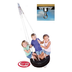 Swing-N-Slide - Swing-N-Slide Tire Swing Multicolor - NE 4317 - Shop for Swings Slides and Gyms from Hayneedle.com! Nothing beats a classic that's why the Tire Swing keeps them spinning to fundom all summer long. Simply attach the four strands of rope to the included swivel mount and the fun begins. Built kid-tough and totally safe this tire swing spins afternoons into play days. Includes mounting hardware. Complete with manufacturer's 5-year limited warranty.About Swing-N-SlideFounded in 1985 Swing-N-Slide was America's first manufacturer of do-it-yourself wooden playground products. This remarkable company designs manufactures and distributes residential and commercial play sets across the nation. Committed to safety and driven by a desire to provide compliant fun and value-packed products Swing-N-Slide backs every play set with quality and pride. They offer unparalleled value and the unique opportunity to tailor playground products to your specific needs and budget.