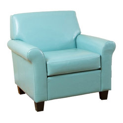 Teal Blue Modern Club Chair
