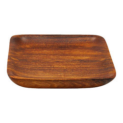 Sitara Collections - Acacia Wood Stackable Serving Tray - Small - The Classic Design of the Serving Platter is a Beautiful Complement to any Table Setting.