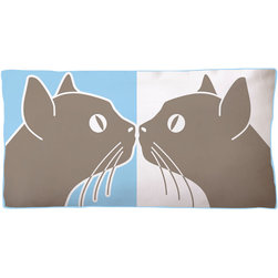 Naked Decor - Naked Decor Kissing Cats Reversible Pillow -