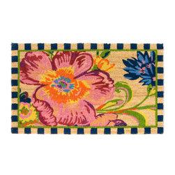 Flower Market Entrance Mat | MacKenzie-Childs - Our Flower Market design is now in a coir mat with a no-slip rubber backing. For use in protected outdoor areas. Made with natural materials. When its useful life is over, you can recycle the biodegradable mat by burying it in your garden!