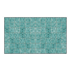 Casart coverings - Faux Glass Tile, Teal/Gray Wallcoverings, Teal/Gray, Border (13 Sq Ft), Casart L - Why build architectural interest when you can peel and stick your carpentry saving time, money and commitment? Printing on our regular material can accommodate covering an accent wall or an entire room.