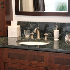 Contemporary Vanity Tops And Side Splashes by Vermont Verde Antique
