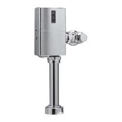 "Toto - Toto TET6GNC-32 Nickel Chrome EcoPower Toilet Flushometer Valve 1.6 GPF 24"" V.B. - Toto TET6GNC EcoPower 1.6 Gallon per flush exposed toilet flushometer valve retrofit body. The EcoPower flush valve is a Self-Generating system that does not require batteries or transformers for reduced maintenance calls. The Sensor activated flush valve is a piston operated for increased life in tough water situations. The Toto TET6GNC does not require scheduled maintenance calls and reduces continued cost to operate. Polished chrome finish"