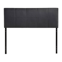 "Modway - Oliver Queen Headboard in Black - The generously padded faux leather Oliver headboard conveys a sense of positive resolve, while imparting a taste for flamboyance that never fades. Outfitted with raised trim and an effervescent sheen, Oliver embellishes your decor without detracting from the finer elements of style. Set Includes: One - Oliver Headboard. Contemporary queen sized headboard; Headboard only; Wipe clean with a slightly damp cloth; Assembly required; Overall Product Dimensions: 3""L x 61.5""W x 22.5""H"