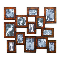 "UMA Enterprises Waterfront Wall-Hanging Picture Frame - Hang some of your favorite family photos and turn your corner into a mini gallery. Use frames of all shapes and sizes to create a ""saloon"" wall. I think it's such a fun way to liven up a neglected corner while also showing off some of your favorite family shots."