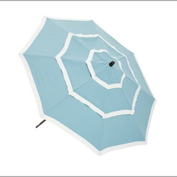 Three-Tiered Round Market Umbrella, Fresca Blue