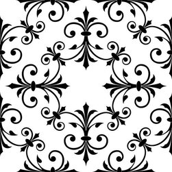Odhams Press - Hobson Black RETile Decal, White Background - RETile decals can be used to accent or transform your existing ceramic, stone or glass tiles. They are easy to apply and can be removed in the future without leaving a sticky residue.