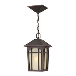 Hinkley Lighting - Hinkley Lighting 1982OZ-GU24 Cedar Hill Bronze Outdoor Hanging Lantern - Hinkley Lighting 1982OZ-GU24 Cedar Hill Bronze Outdoor Hanging Lantern