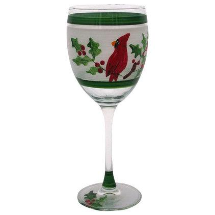 Contemporary Wine Glasses by Golden Hill Studio