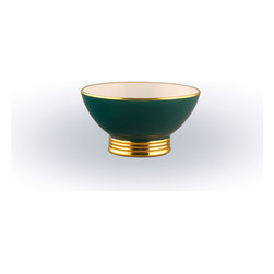 Maison Alma - Arienne Dip and Nut Bowl - Nothing says elegance like a piece of Limoges porcelain accented with 24-karat gold. You could be serving nuts, caviar or guacamole and your guests will feel like royalty. It's an heirloom in the making and an entertainer's essential.
