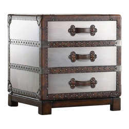 """Hooker Furniture - Bondurant Accent Chest - The Orient Express once saw luggage like this. Now you can have a piece of romantic history in your space with this accent chest. Stores your extra bedding, folded clothes, keepsakes and linens in an """"everything old is new again"""" way."""