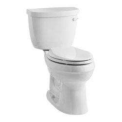 KOHLER - KOHLER K-3609-RA-0 Cimarron Comfort Height 1.28 Elongated Toilet with Class Six - KOHLER K-3609-RA-0 Cimarron Comfort Height 1.28 Elongated Toilet with Class Six Technology and Right-Hand Trip Lever, Less Seat in White
