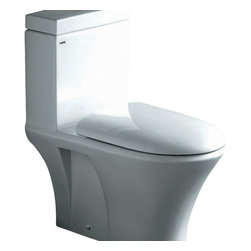 "Ariel - Ariel ""Milano"" Contemporary One Piece White Toilet with Dual Flush - Ariel cutting-edge designed one-piece toilets with powerful flushing system. It?s a beautiful, modern toilet for your contemporary bathroom remodel. Dimensions:  26.5 x 16 x 30, UPC Approved, 12"" Rough in For easy standard installation, High Quality Glaze that resist stains and Microbes, Seat is Included with the Toilet, Fully Glazed Trapway for smoother flushes, Dual flush (0.8gpf / 1.6gpf), Elongated Bowl, One Piece Construction for Clean modern look / S-trap"