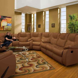 Recline Designs Camry Dual Reclining Sectional Sofa