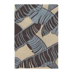 Chandra Rugs - Hand-Tufted Designer Wool Rug ALF2101 - 7'9 x 10'6 - Hand-tufted Designer Wool Rug - ALF2101 - 7'9 x 10'6