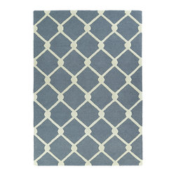 Kaleen - Kaleen Trends Collection TRN01-75 5' x 7' Grey - Trends is where textiles meet fashion. Modern textile design and todays hottest colors combine to meet the new evolution of this beautiful rug. Each rug is handmade and hand-carved in India of 100% Virgin Wool for added detail and texture.