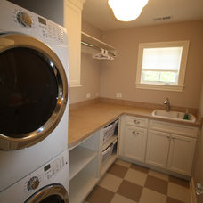 Beach Style Laundry Room by Matthies Builders
