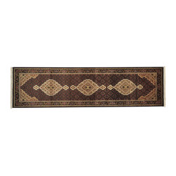 1800-Get-A-Rug - Wool and Silk Runner Hand Knotted Rug Tabriz Mahi Sh13070 - About Wool Pile