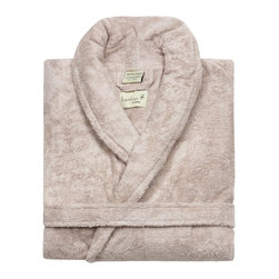 Kassatex - Kassatex Bamboo Bath Robe Collection, Sandstone - Feeling a bit lazy today? Slip on this luxurious bamboo blend robe and find yourself avoiding real clothes for as long as humanely possible — why interrupt perfection?