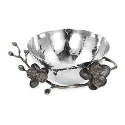 Michael Aram 'Black Orchid' Nut Bowl - Hammered bowl is elegantly set on a shapely orchid branch. Color(s): black nickel. Brand: MICHAEL ARAM. Style Name: Michael Aram 'Black Orchid' Nut Bowl. Style Number: 306922. Available In Stores.
