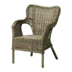 Byholma Chair, Gray - We recently purchased these rattan armchairs for our breakfast tables, but they would be equally at home as occasional seating in the living room.