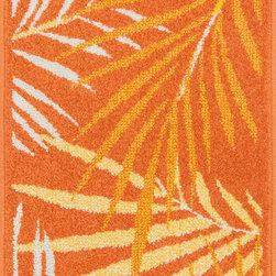"Loloi Rugs - Loloi Rugs Terrace Collection - Orange / Multi, 2'-5"" x 3'-9"" - Bold design and bright colors come together beautifully in the outdoor-friendly Terrace Collection. Each Terrace rug is power loomed in Egypt of 100% polypropylene that's specially treated to withstand rain and UV damage without staining or fading color.�"