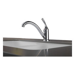 Delta - Classic Single Handle Kitchen Faucet with Diamond Seal Technology - Delta 101-DST Classic Single Handle Kitchen Faucet with Diamond Seal Technology in Chrome.