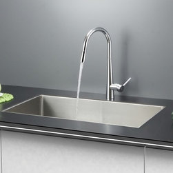 Ruvati - Ruvati RVC2322 Stainless Steel Kitchen Sink and Chrome Faucet Set - Ruvati sink and faucet combos are designed with you in mind. We have packaged one of our premium 16 gauge stainless steel sinks with one of our luxury faucets to give you the perfect combination of form and function.