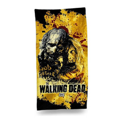 Zeckos - The Walking Dead `Zombies` Cotton Velour Beach Towel 60 in. - Officially licensed and ready to dry you off at the beach or pool, this `Zombies` beach towel is an essential addition to the collection of any `The Walking Dead` fans. Made of 100% cotton, it measures 30 inches wide by 60 inches long (76x152 cm), and is recommended to machine wash in cold water, and tumble dry low. You can take it on vacation, a picnic in the park, use it at home or hang it on the wall This awesome towel makes a great gift any follower of `The Walking Dead` is sure to enjoy