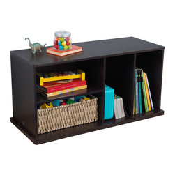 Kidkraft - KidKraft Add On Storage Unit in Espresso - Kidkraft - Storage Bins - 14176 - Our Espresso Storage Unit with Shelves helps keep bedrooms tidy and organized. The four separate storage compartments are perfect for toys books clothes or anything else in the house that needs a good home.