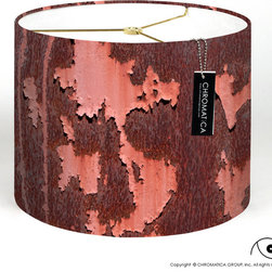 Drum Lamp Shade - Container. - Image of an old container of a sugar plant in Puerto Rico. A sign of how things went.