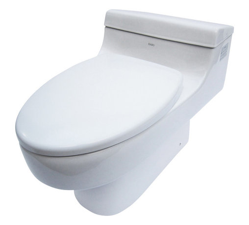 EAGO - EAGO TB352 White One Piece Ultra Low Single Flush Eco-Friendly Ceramic Toilet - We are very excited to offer you this top of the line brand of eco-friendly low consumption modern smart toilets. Join the latest fashion trend with EAGO's innovative line of green products.