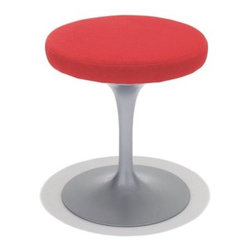 """Knoll - Saarinen Tulip Stool - In any design problem, one should seek the solution in terms of the next largest thing, designer Eero Saarinen once said. """"If the problem is a chair, then its solution must be found in the way it relates to the room."""" One glance at the ultra-modern Tulip Stool and you'll instantly think of a place in your home for it. Whether you put four of them around your kitchen table or in your home office, the Tulip Stool is a standout addition to any setting. THE DESIGN 
