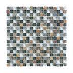 "Glass & Stone Mosaic - Ceramic Tileworks - Bliss Glass & Stone Mosaic Tile - 5/8""x5/8"" Smoky Mica"