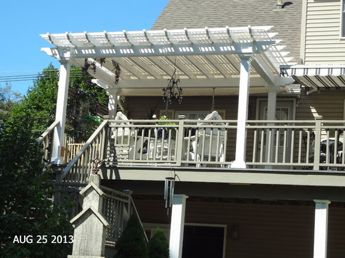 Need more shade on pergola! - Houzz - Pergola Sliding Shade
