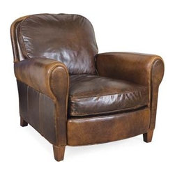 Leather Chair - I love this classic-style armchair in a distressed, worn leather. The distressed leather makes this chair feel super casual, which is what I'd want my beach house to feel like.