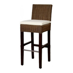 NPD (New Pacific Direct) Furniture - Tribeca Loom Barstool by NPD Furniture, Brown, Bar Height - Need a little something to complete your dining style/look? This simple, yet stylish, solid mahogany wood barstool will be great to add to your dining room or kitchen. Available in fabric and rattan upholstrey and in bar height or counter height.