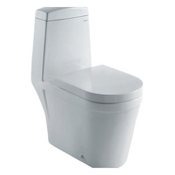 "Ariel - Ariel Royal CO1024 Dual Flush Toilet 28x14x32 - Ariel cutting-edge designed one-piece toilets with powerful flushing system. It?s a beautiful, modern toilet for your contemporary bathroom remodel. Dimensions: 28 x 15 x 32, UPC Approved, 12"" Rough in For easy standard installation, High Quality Glaze that resist stains and Microbes, Seat is Included with the Toilet, Fully Glazed Trapway for smoother flushes, Elongated Bowl, Elongated Bowl"