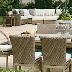 Outdoor Furniture For Oceanfront Houses - It's time to host your friends and family to an outdoor dinner! The Summer Classics Rustic outdoor dining set is beautiful and durable.