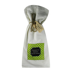 Conserve Water/Dots    Flour Sack Towel  Set of 2 - A fabulous set of 3 flour sack towels. This set features a colorful set with a great saying�.Conserve Water   These towels are printed in the USA by American Workers!