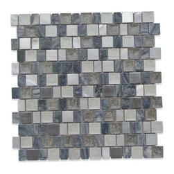 GlassTileStore - Sample-Lotus Alfresco Glass and Stone Tile Sample - Sample-Lotus Alfresco Glass and Stone Tile Sample   Samples are intended for color comparison purposes, not installation purposes.    -Glass Tiles -