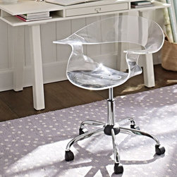 Acrylic Swivel Chair - A good seat is critical for comfort. And a good-looking one is almost just as important. I love the modern and clean look of this seat. It's fun for a kids' area and sleek enough for any part of the house.