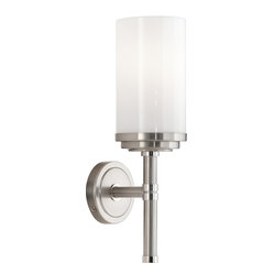 Robert Abbey - Halo Wall Sconce - Brighten your dreariest spaces with this dazzling, brushed brass wall sconce. Buy more than one to line a hallway or stairway and banish the gloom for good.