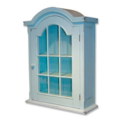 EuroLux Home - New Cabinet Blue Painted Hardwood Arched - Product Details