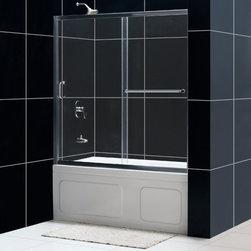 "DreamLine - DreamLine SHDR-0960580-01 Infinity-Z Tub Door - DreamLine Infinity-Z 56 to 60"" Frameless Sliding Tub Door, Clear 1/4"" Glass Door, Chrome Finish"