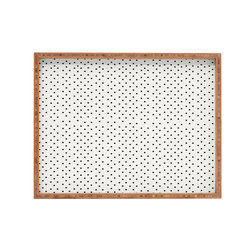 DENY Designs - Allyson Johnson Tiny Polka Dots Rectangular Tray - With DENY'S multifunctional rectangular tray collection, you can use it for decoration in just about any room of the house or go the traditional route to serve cocktails. Either way, you'll be the ever so stylish hostess with the mostess!