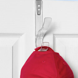 "Hooks & Racks - Turn a door or cubicle wall into a useful place to organize. The Edge Adjustable Over the Door Hat & Coat Hook has a unique patented design, making it a one-of-a-kind organizer. The stainless steel bracket adjusts when light pressure is applied; locking into place over doors up to 2-1/4"" thick. A rubberized padded backing helps create a snug fit and protects surfaces from scratches."